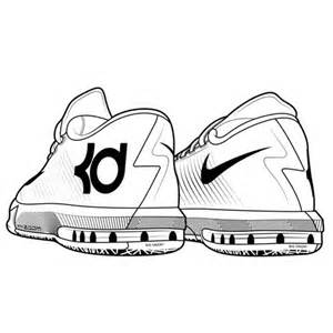 Drawn shoe kd shoe Pages Shoes Drawing Coloring Shoes