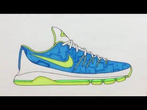 Drawn shoe kd shoe Nike KD  8 The