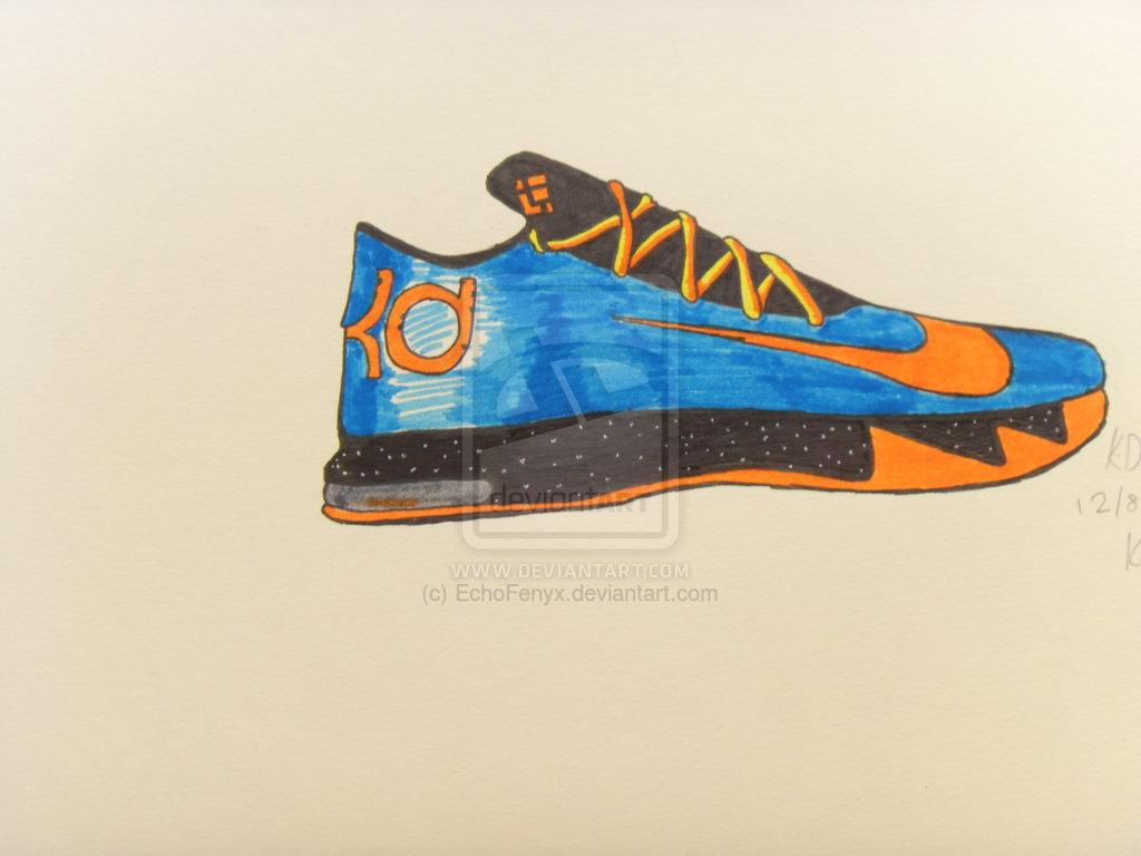 Drawn shoe kd shoe D6i3z29; kd air  jordan