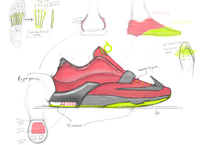 Drawn shoe kd shoe Basketball Collector Unveils An The