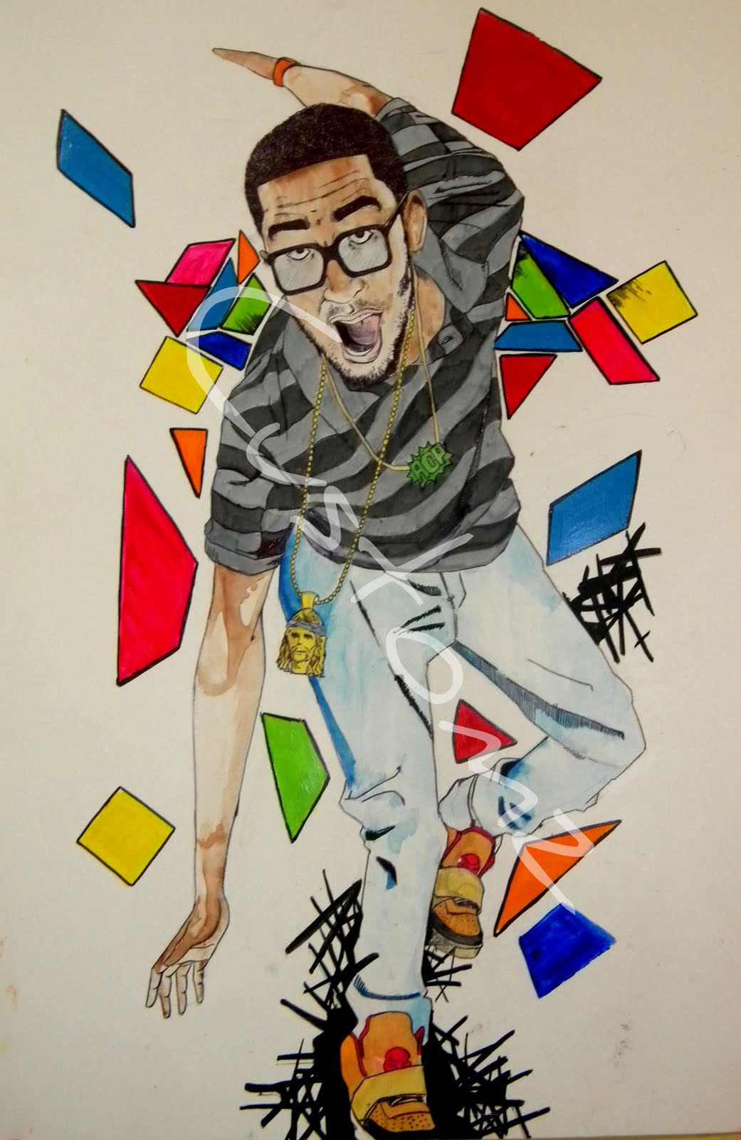 Drawn shoe kid cudi Of 1 DRAW (Part a