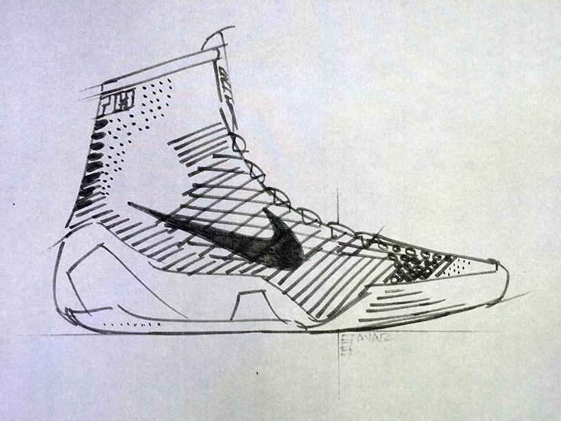 Drawn shoe kobe 9 High elite sketch NIKE basketball