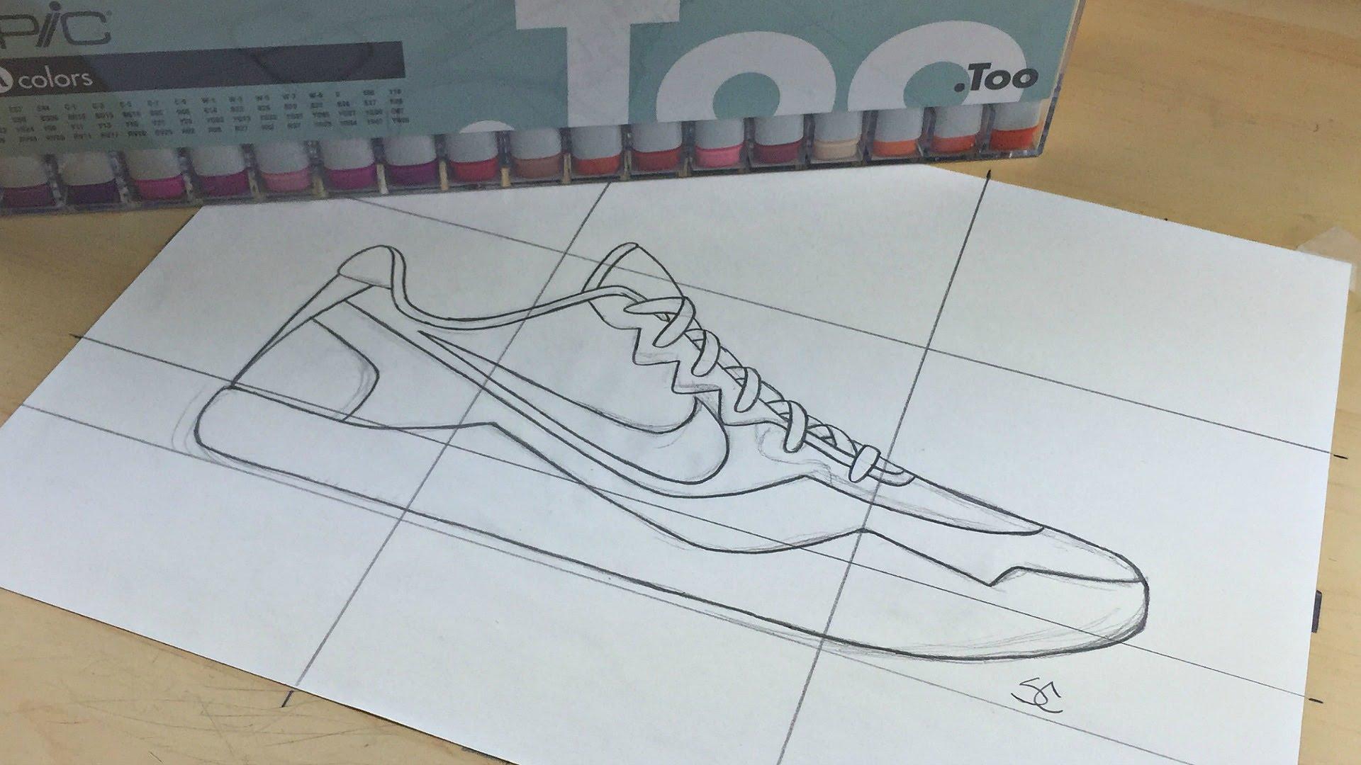 Drawn shoe kobe 9 11 Nike How Kobe To