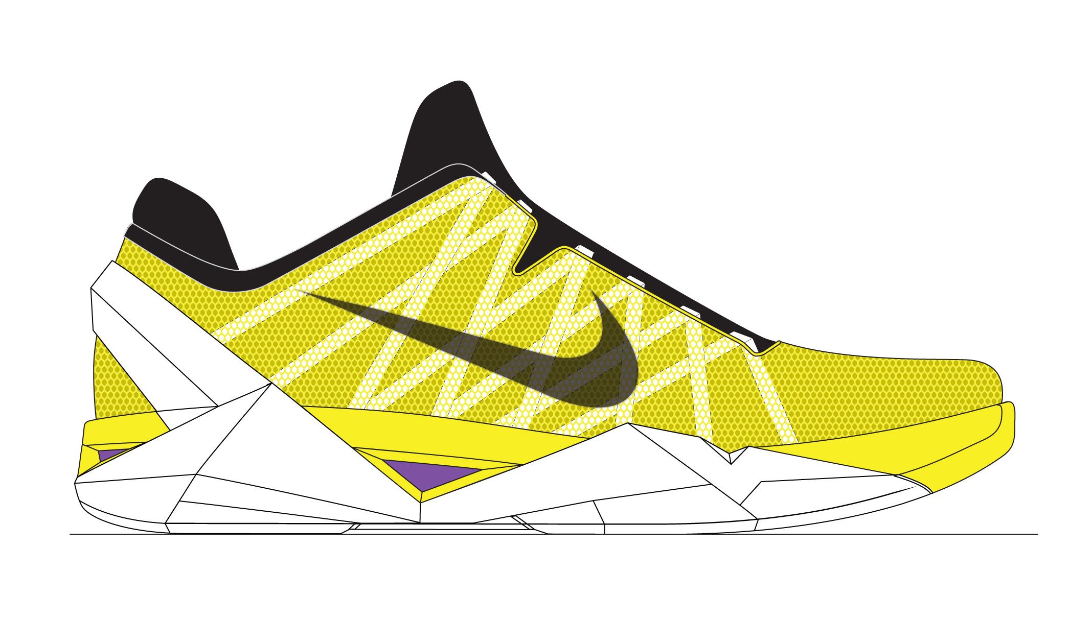 Drawn shoe kobe 9  Building Nike LO and