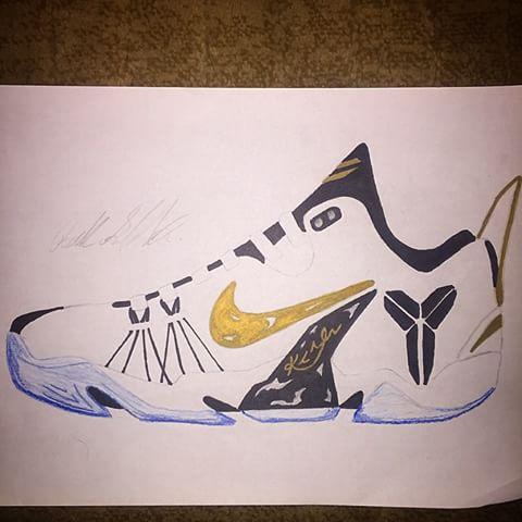Drawn shoe kobe 9 Shoes black #kobe9  chose