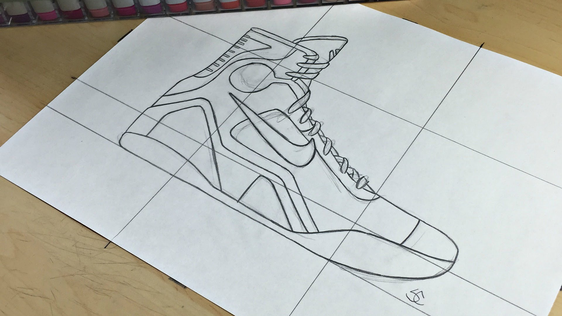 Drawn shoe kobe 9 YouTube 9 Nike How Nike