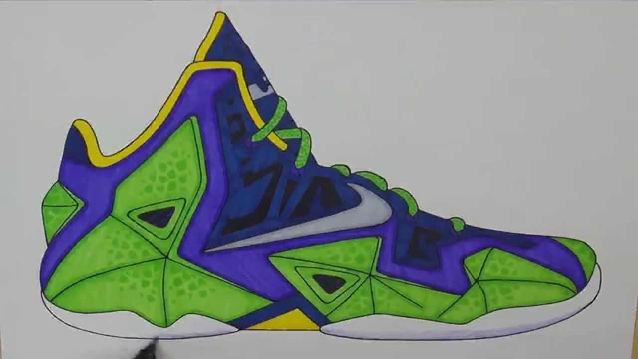 Drawn shoe lebron shoe 11