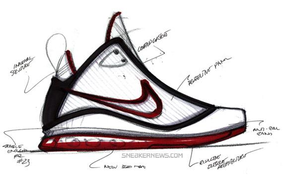 Drawn shoe lebron shoe 01 with Petrie Air Nike