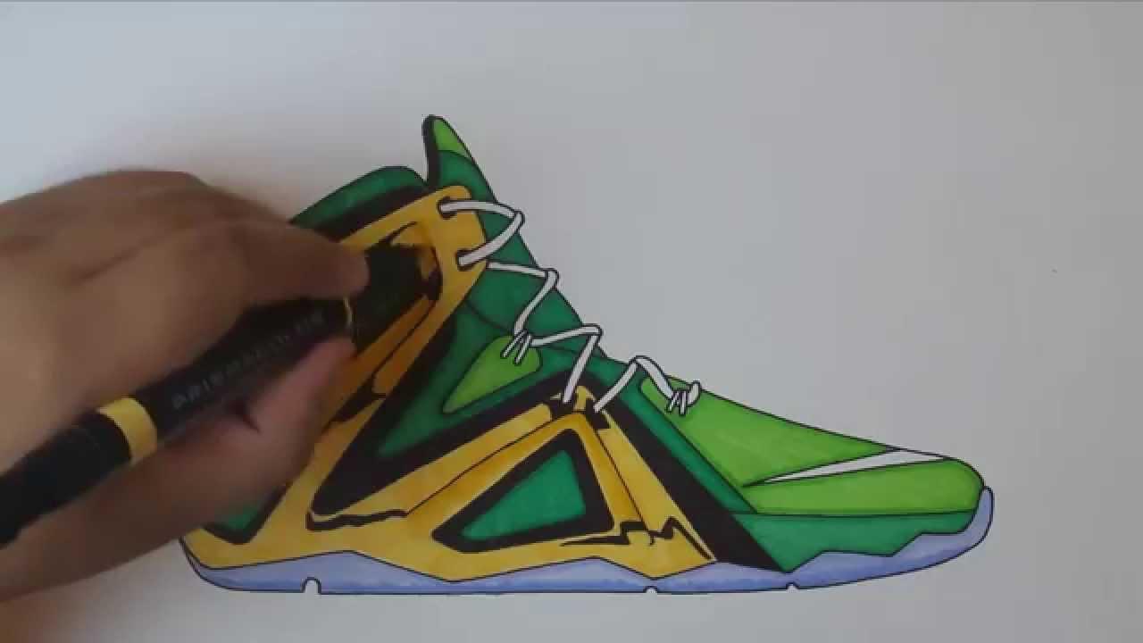 Drawn shoe lebron shoe 12 12