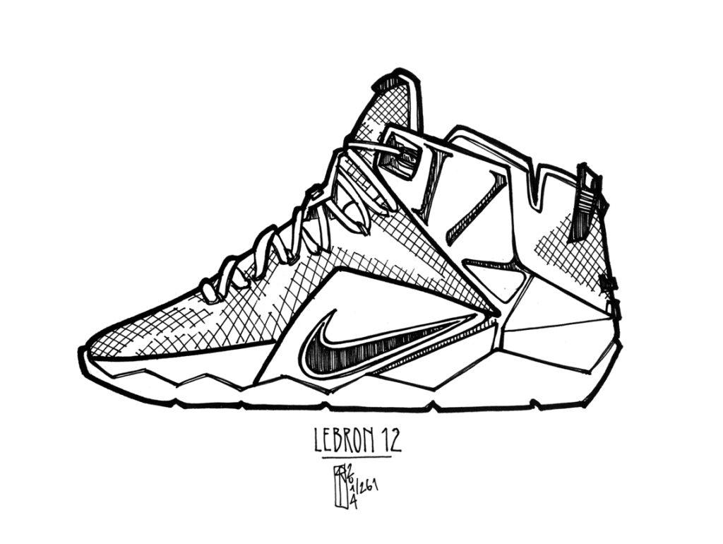 Drawn shoe lebron shoe Shoe to Coloring Lebron lebron
