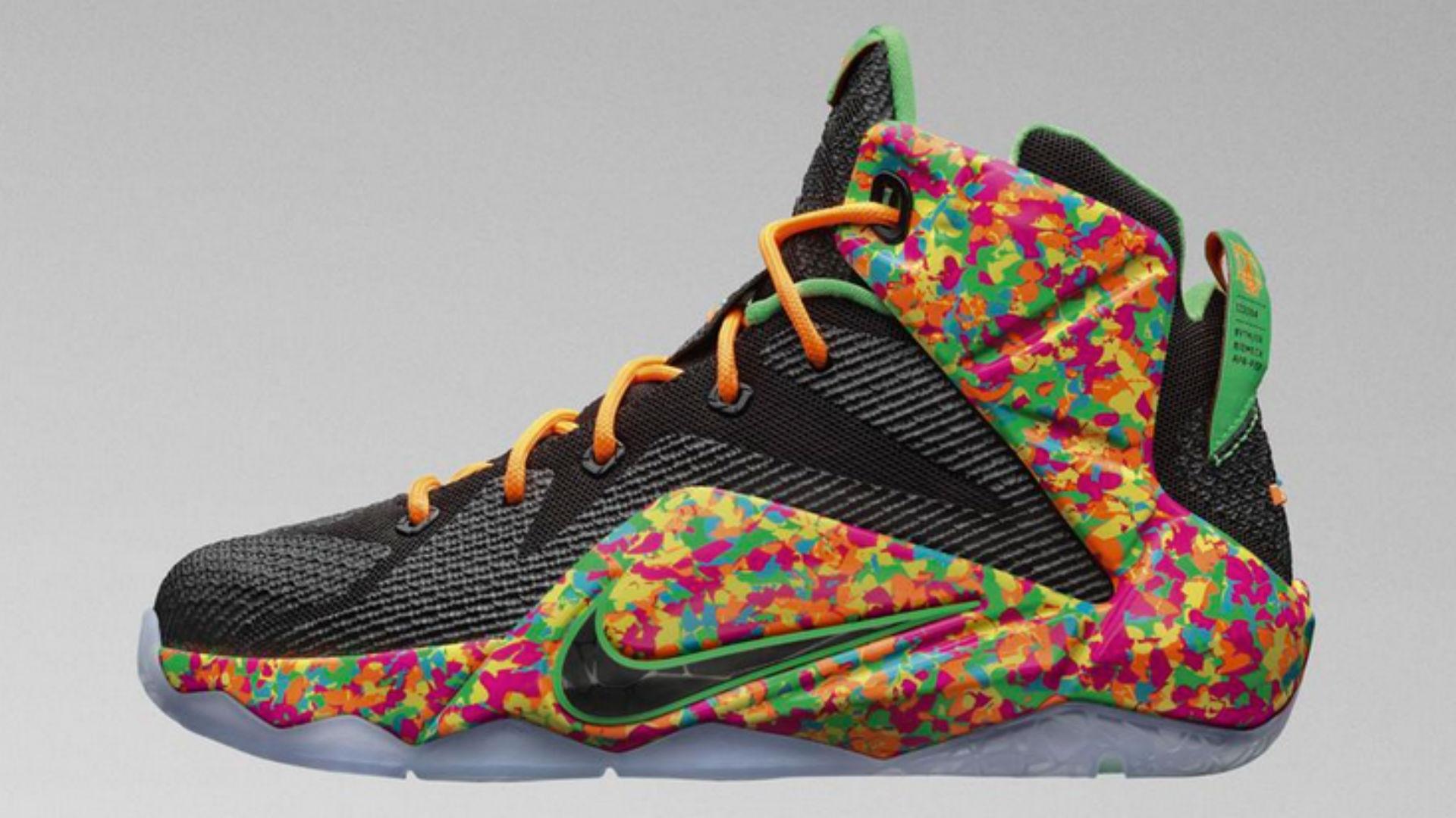Drawn shoe lebron shoe 'Fruity makeover Pebbles' LeBron NBA
