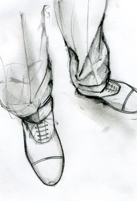 Drawn shoe male #3