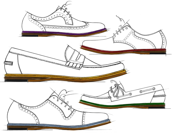 Drawn shoe mens shoe Men's R of men's Sketch