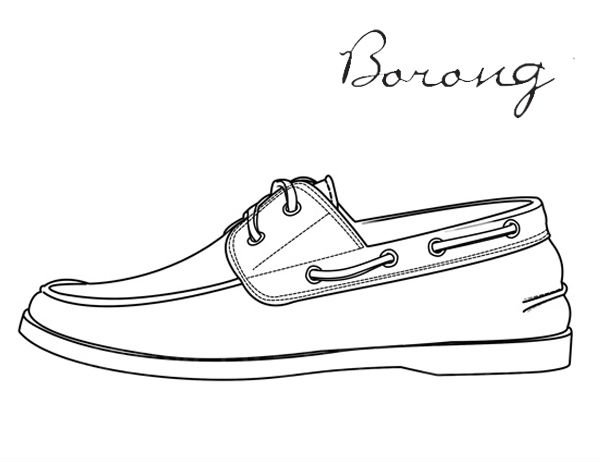 Drawn shoe mens shoe Model Canvas Boat canvas model