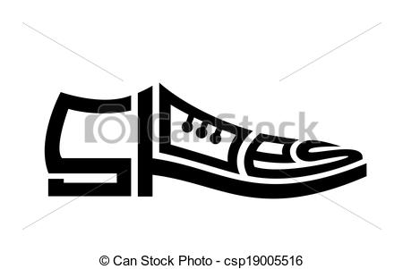 Drawn shoe mens shoe Concept and shoes Clipart Mens