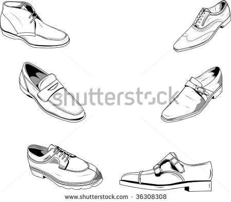Drawn shoe mens shoe Photo of good and photo