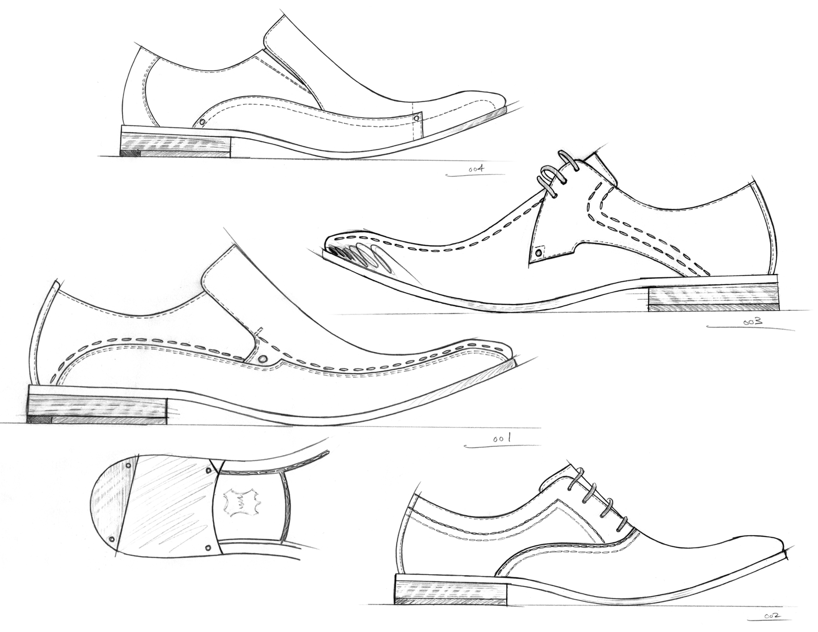 Drawn shoe mens shoe Part Dress Men's Men's Concepts