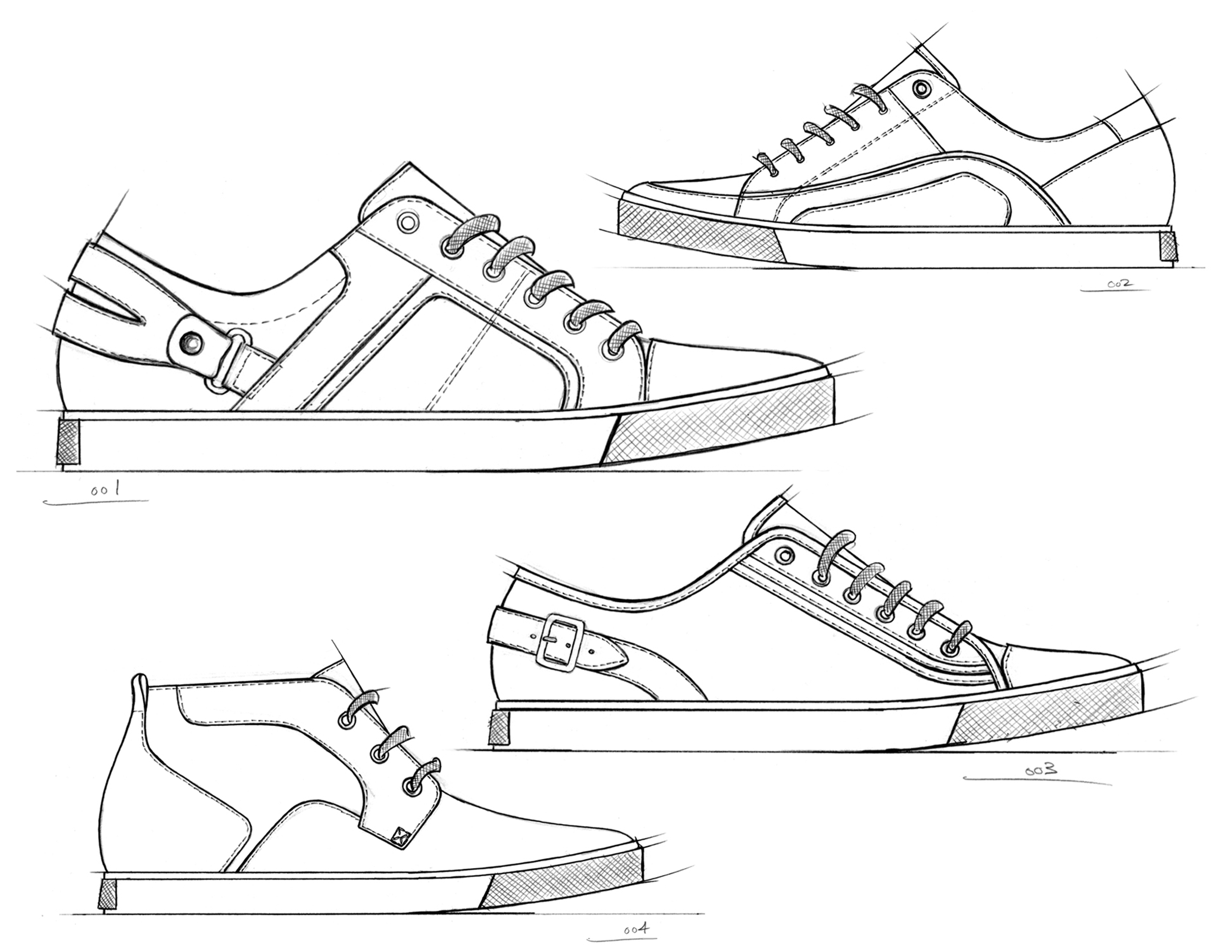 Drawn shoe mens shoe Part Casual Men's Men's Concepts