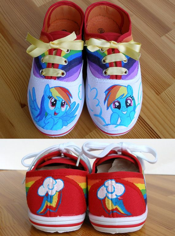 Drawn shoe mlp Rainbow my Hand best party