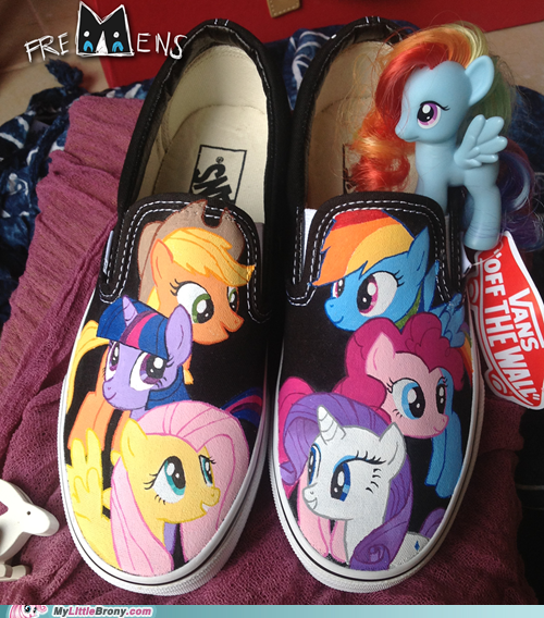 Drawn shoe mlp ShoesAwesome Vans Brohoofs and Broshoes!