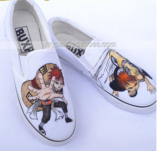 Drawn sneakers naruto Shoes Anime Gaara Gaara Shoes