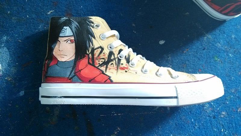 Drawn shoe naruto Naruto custom shoes shoes painted
