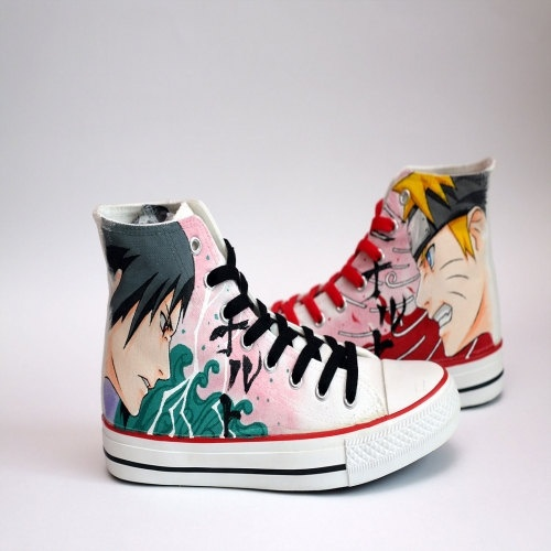 Drawn sneakers naruto Drawing Custom Made New Shoes