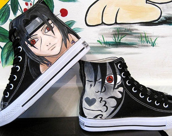 Drawn shoe naruto Canvas canvasshoesetsy Hand canvas $59