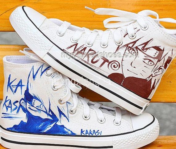 Drawn shoe naruto Hand Naruto Painted Hand Shoes