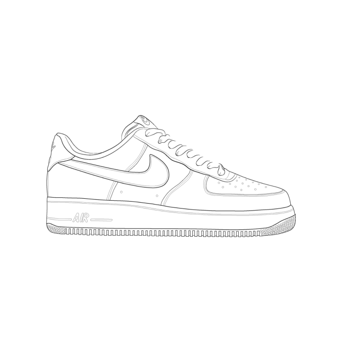 Drawn shoe nike air force 1 Illustration 1 Nike Michael Shoes