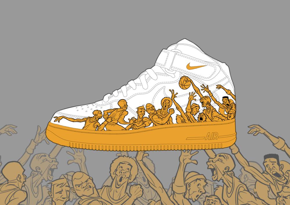 Drawn shoe nike air force 1 1 air Buy force nike