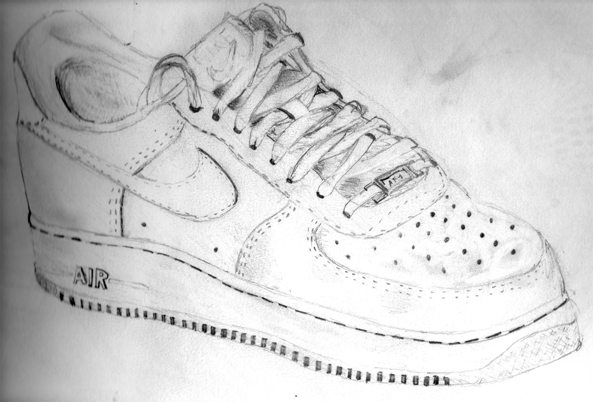 Drawn shoe nike air force 1 1 Buy force force nike
