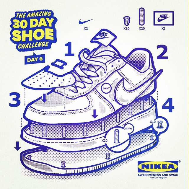 Drawn shoe nike air force 1 My #vector Force in Day