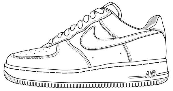 Drawn shoe nike air force 1 Page Shoe Ace shoe Class