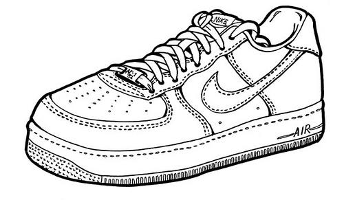 Drawn shoe nike air force 1 Force Nike Nike's Force Abnormal