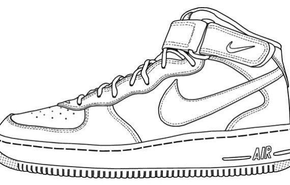 Drawn shoe nike air force 1 1 air 1 air force