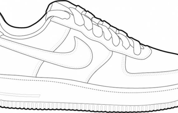 Drawn shoe nike air force 1 1 1 force nike drawing