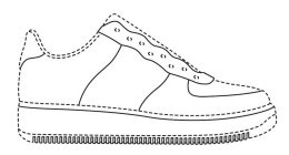 Drawn shoe nike air force 1 Of Shoe AIR Protection Nike