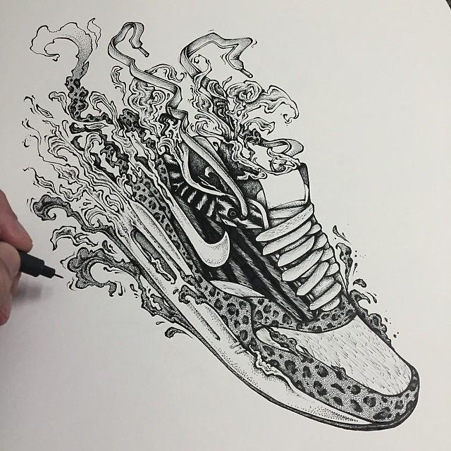 Drawn shoe nike logo Google by Max  1