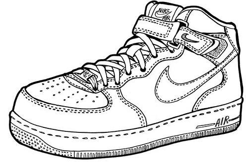 Drawn shoe nike sign To 4 air Force to
