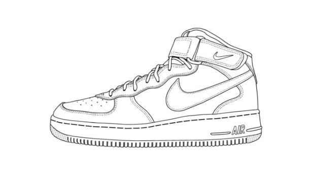 Drawn shoe nike sign Best shoe Nike on