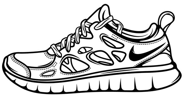 Drawn shoe nike trainer #4