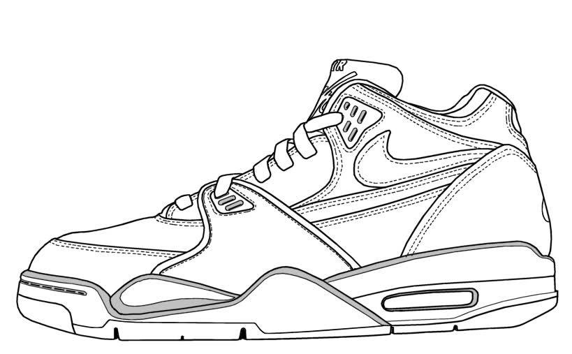 Drawn shoe nike trainer Nike coloring Free Of Images
