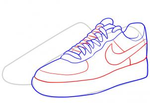 Drawn shoe nike trainer How Force by how How