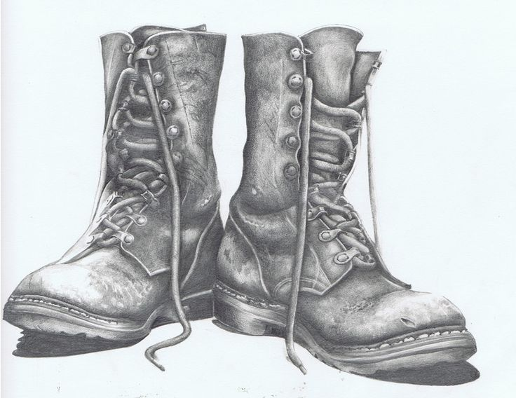 Drawn shoe old pair Boots photo on Pinterest work