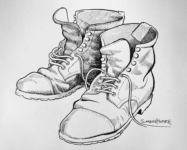 Drawn boots old Male of and Google shoes