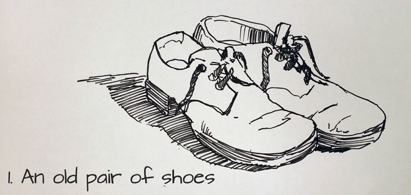 Drawn shoe old pair Sketchbook idea 101 Drawing An