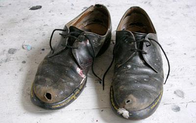 Drawn shoe old shoe #2