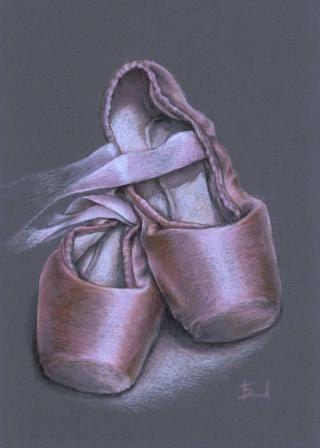 Drawn ballerina color Images make pencil shoes Bond