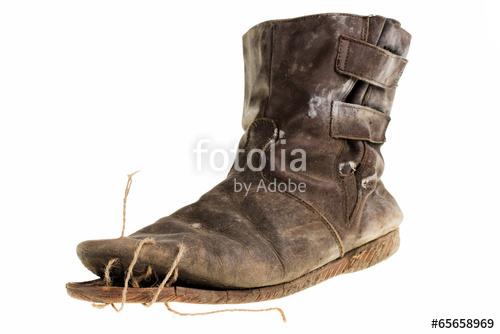 Drawn shoe old shoe #14